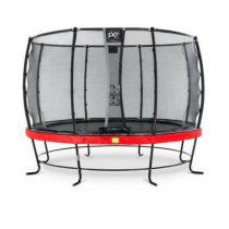 EXIT Elegant trampoline 366cm met veiligheidsnet deluxe rood