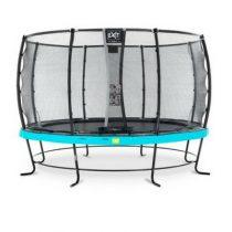EXIT Elegant trampoline 427cm met veiligheidsnet deluxe blauw