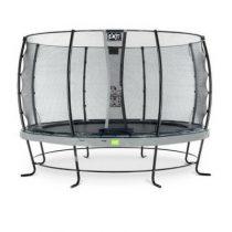 EXIT Elegant trampoline 427cm met veiligheidsnet economy grijs