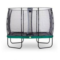 EXIT Elegant trampoline 214x366cm met veiligheidsnet economy groen