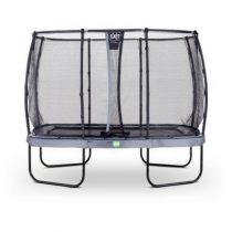 EXIT Elegant trampoline 214x366 cm met veiligheidsnet deluxe grijs