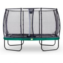 EXIT Elegant trampoline 244x427cm met veiligheidsnet deluxe groen