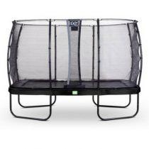 EXIT Elegant trampoline 244x427cm met veiligheidsnet economy zwart