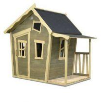 Exit Crooky 150 houten speelhuis grijsbeige