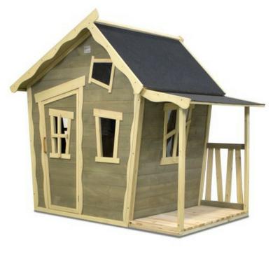 Welp EXIT crooky 150 houten speelhuis grijsbeige - Lief en Klein KR-81