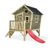 Exit Crooky 300 houten speelhuis grijsbeige