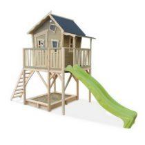 Exit Crooky 750 houten speelhuis grijsbeige