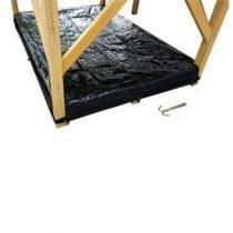 Exit afdekzeil zandbak voor houten speelhuis Loft en Crooky