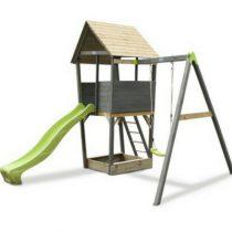Exit aksent houten speeltoren met 1 schommel