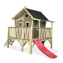 Exit crooky 350 houten speelhuis grijsbeige