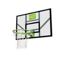 Exit galaxy basketbalbord met ring en net groen-zwart