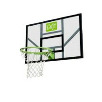 Exit galaxy basketbalbord met ring en net groen-zwart
