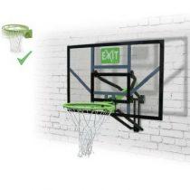 Exit galaxy basketbalbord voor muurmontage met dunkring groen-zwart