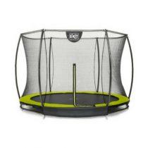 Exit silhouette inground trampoline 244cm met veiligheidsnet geel