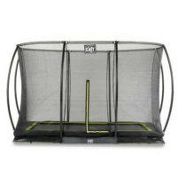 Exit silhouette inground trampoline 244x366cm met veiligheidsnet zwart