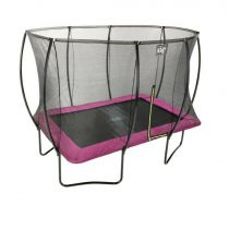 Exit silhouette trampoline 214 x 305 cm roze