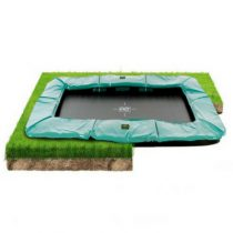 Exit supreme groundlevel trampoline 244x427cm groen