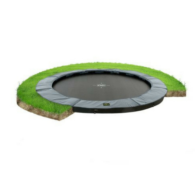 Exit supreme groundlevel trampoline 305cm grijs
