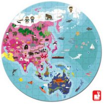Janod puzzel rond aarde