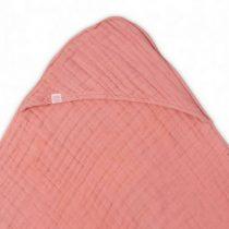 Jollein badcape wrinkled hydrofiel coral pink