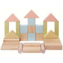 PlanToys blokken set 40 stuks pastel