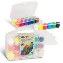 Primo Pro koffer met 18 kleuren acrylverf