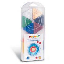 Primo box met 12 driehoekjes waskrijtjes