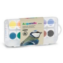 Primo fijne aquarelverf tablet 12 kleuren