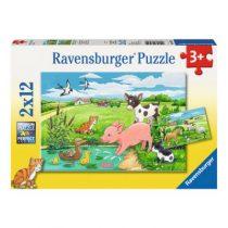 Ravensburger 2 puzzels Jonge dieren op het platteland
