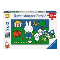 Ravensburger 2 puzzels Nijntje bij de dieren