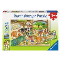Ravensburger 2 puzzels Vrolijk boerderijleven