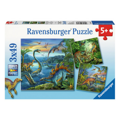 Ravensburger 3 puzzels Dinosauriers