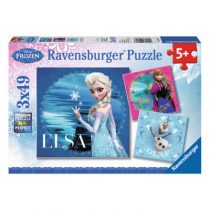 Ravensburger 3 puzzels Elsa Anna en Olaf