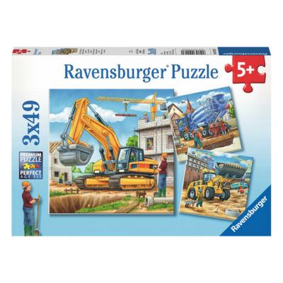 Ravensburger 3 puzzels Grote bouwvoertuigen