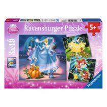 Ravensburger 3 puzzels Sneeuwwitje Assepoester Ariel