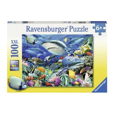 Ravensburger puzzel 100 XXL Haaien rif