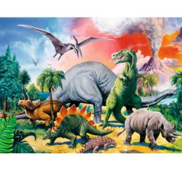 Ravensburger puzzel 100 XXL tussen de dinosauriers 2