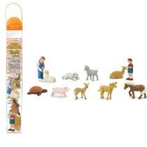 Safari LTD speelfiguurtjes kinderboerderij koker
