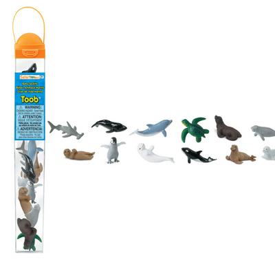 Safari LTD speelfiguurtjes baby zeeleven koker