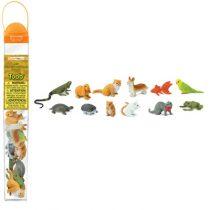 Safari LTD speelfiguurtjes huisdieren koker