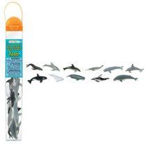 Safari LTD speelfiguurtjes walvissen en dolfijnen koker
