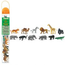 Safari LTD speelfiguurtjes wilde dieren koker