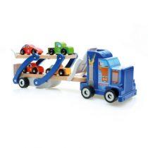 Scratch houten vrachtwagen met autootjes