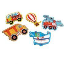 Scratch puzzel voertuigen beginnerspuzzel