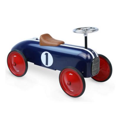 Vilac loopwagen vintage blauw metaal