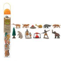 safari LTD speelfiguurtjes prehistorie koker