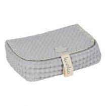 Koeka hoes voor babydoekjes Antwerp silver grey