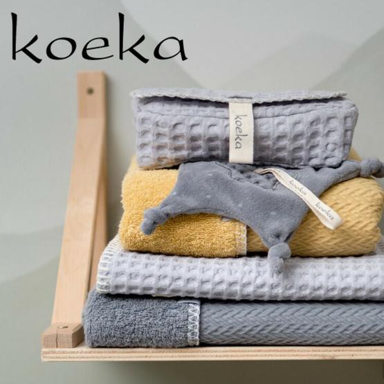 9a9cc507ab90db Koeka wiegdeken wafel teddy Oslo sapphire silver grey · Koeka sfeer Antwerp  oker · Koeka merkfoto