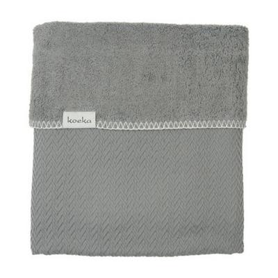 Koeka wiegdeken Stockholm steel grey