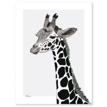 Lilipinso Serengeti poster giraf zwart wit 30x40cm